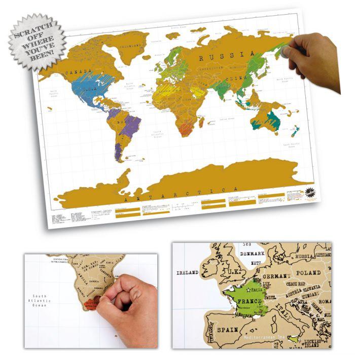 Scratch Map Rubbel Weltkarte Für Reisefreunde