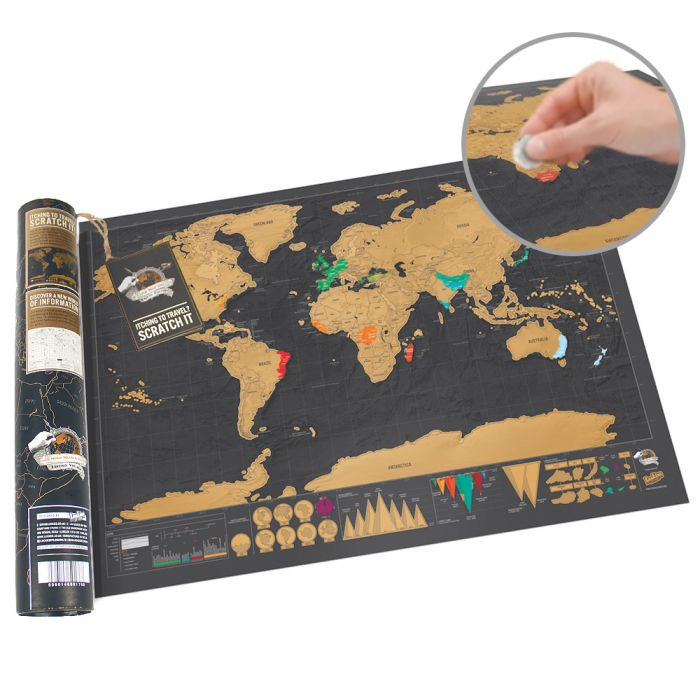 Scratch Map Deluxe im Reiseformat