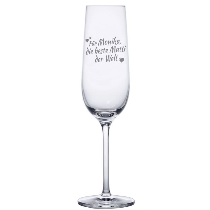 Sektglas mit Gravur - Beste Mama