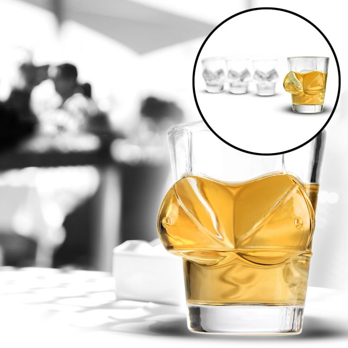 Sexy Schnapsgläser - 4er Set - Shotglas 2cl mit Brüsten!