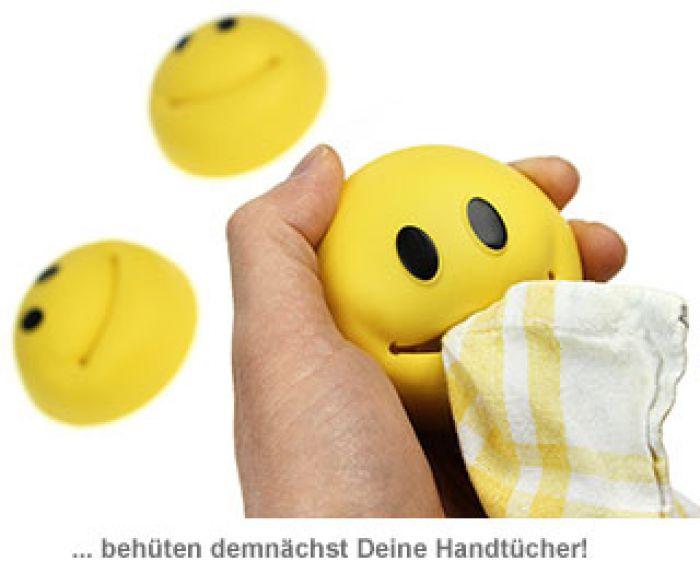 Smiley Handtuchhalter lustiges Accessoire fürs Bad