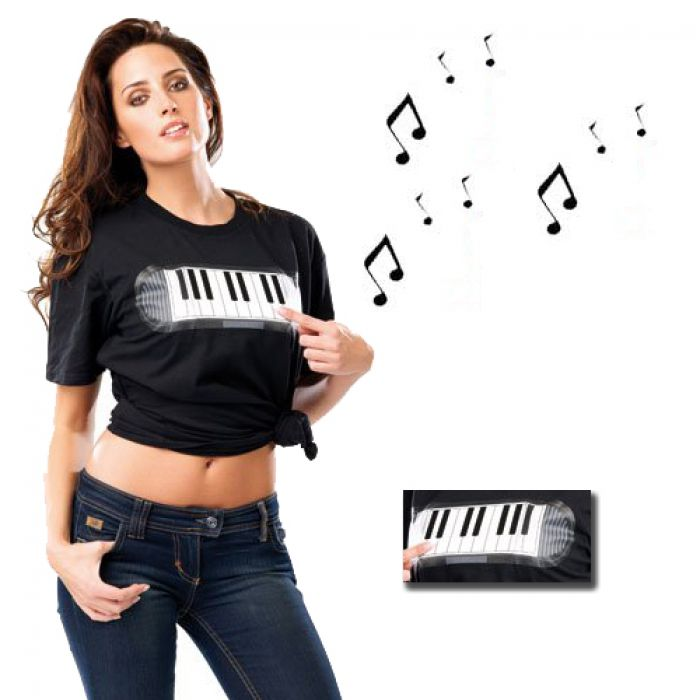 T-shirt musical piano