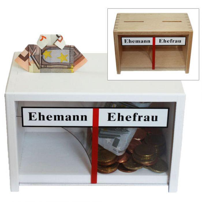 spardose f r ehepaare sparb chse ehepaar f r hochzeiten. Black Bedroom Furniture Sets. Home Design Ideas