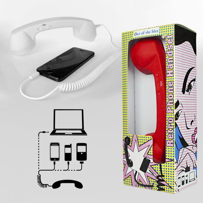 Telefonhörer für Handys - Retro Hörer Handy Zubehör in 4 Farben!