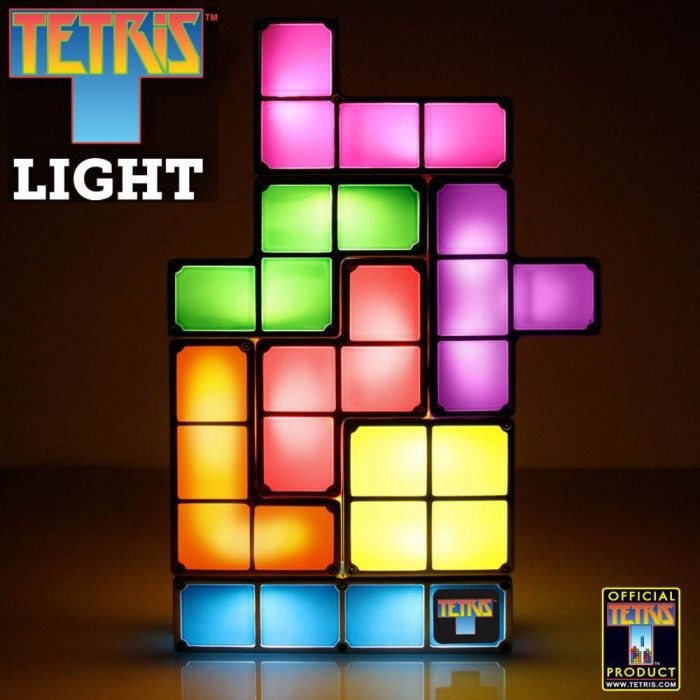 tetris lampe baue deine lampe mit leuchtenden tetrisbl cken. Black Bedroom Furniture Sets. Home Design Ideas
