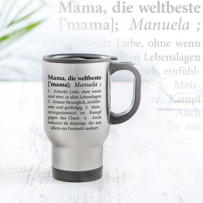 Thermobecher personalisiert - Definition Weltbeste Mama