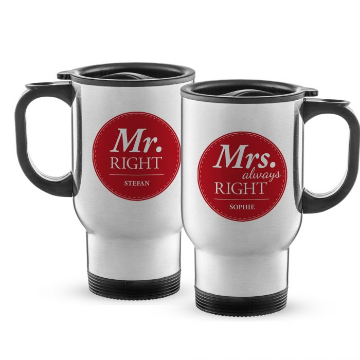 Thermobecher Set personalisiert - Mr and Mrs Right