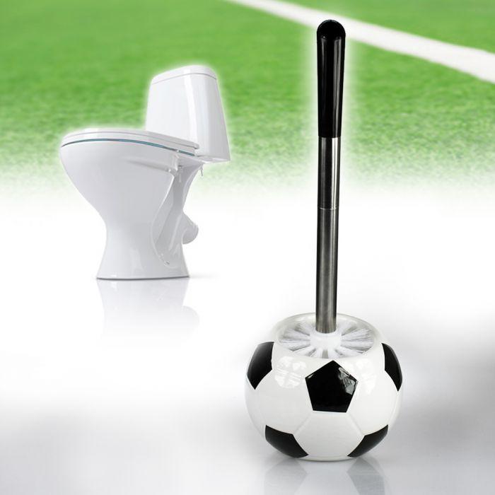 toilettenb rste fu ball cooles lustiges accessoire f r. Black Bedroom Furniture Sets. Home Design Ideas