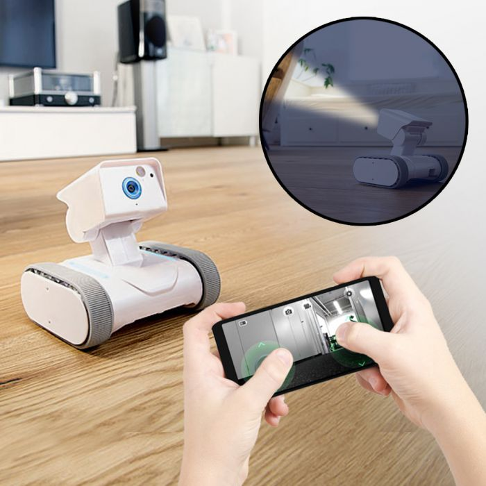 berwachungsroboter mit kamera internetgesteuert via smartphone. Black Bedroom Furniture Sets. Home Design Ideas