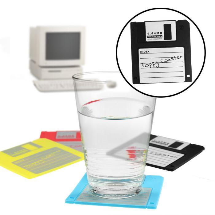 untersetzer fur glaser disketten 4 teilig selber machen