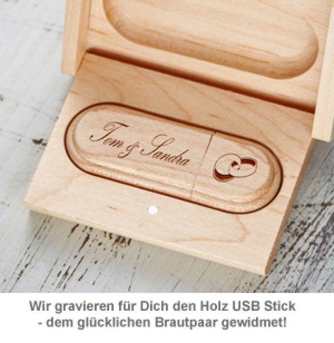 USB Stick mit Gravur zur Hochzeit