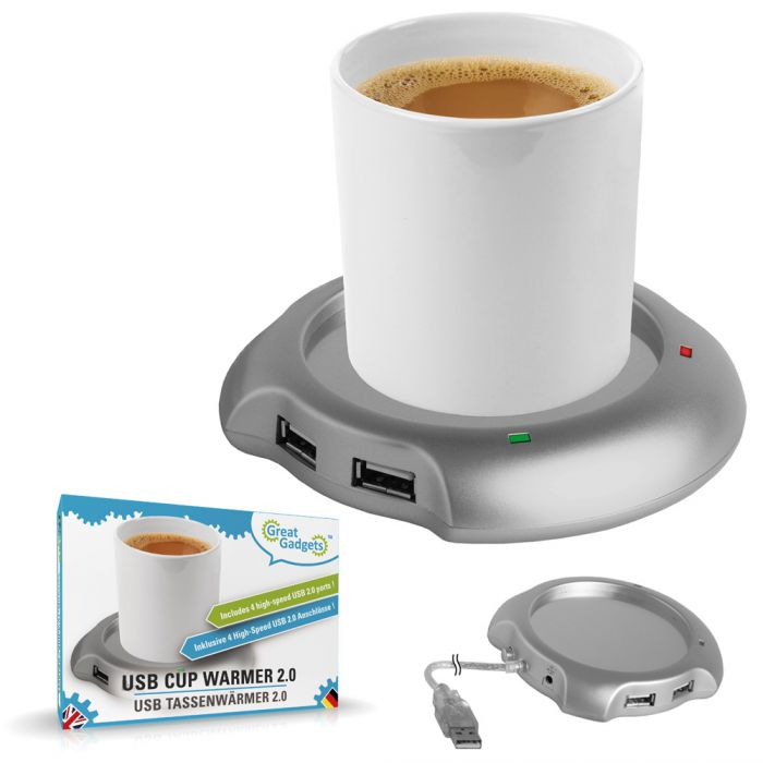 Chauffe-tasse USB avec hub USB