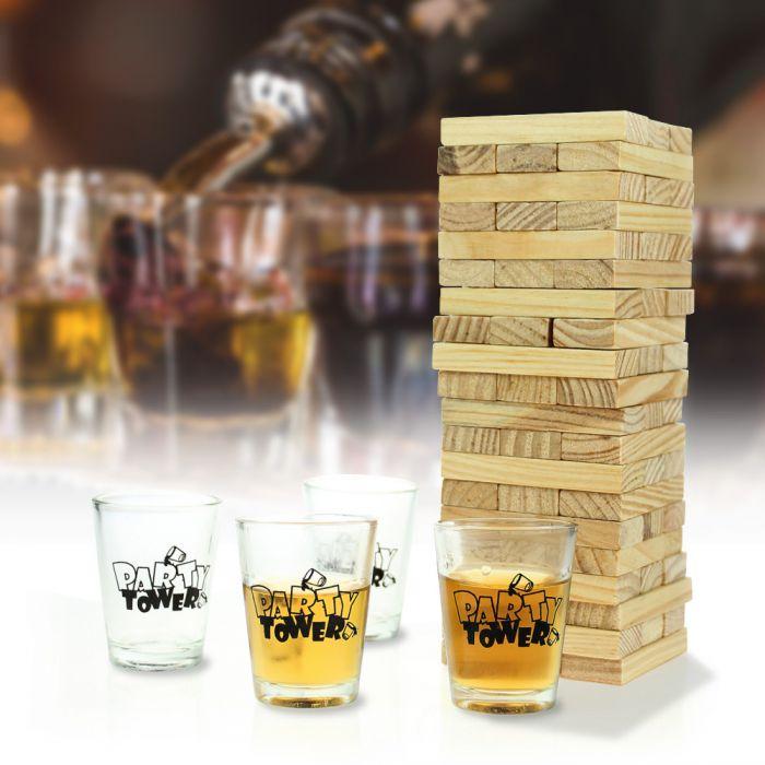 Partybedarfpartyspiele - Wackelturm Trinkspiel - Onlineshop Monsterzeug