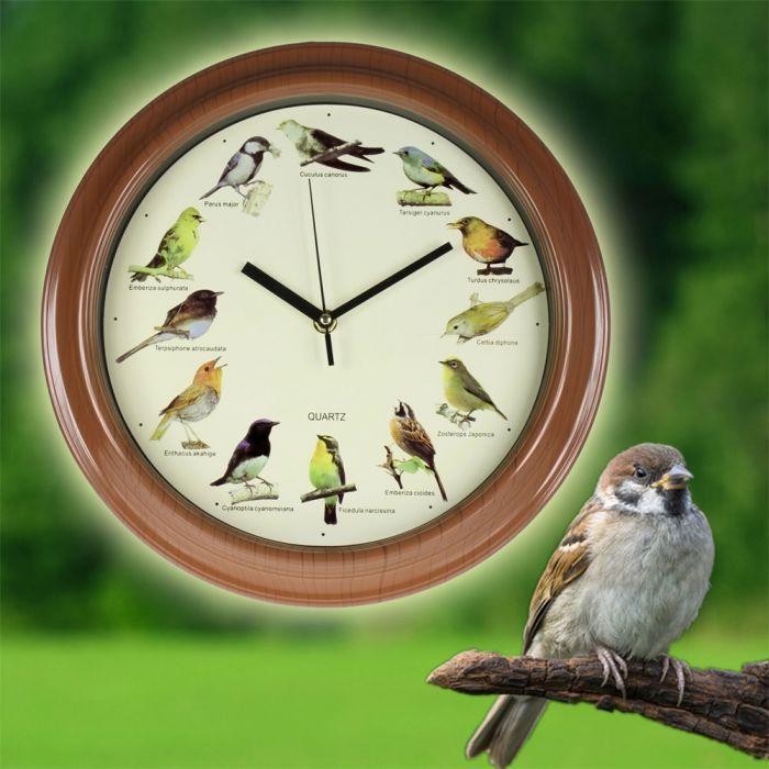 Individuellwohnzubehör - Wanduhr Vogelstimmen - Onlineshop Monsterzeug