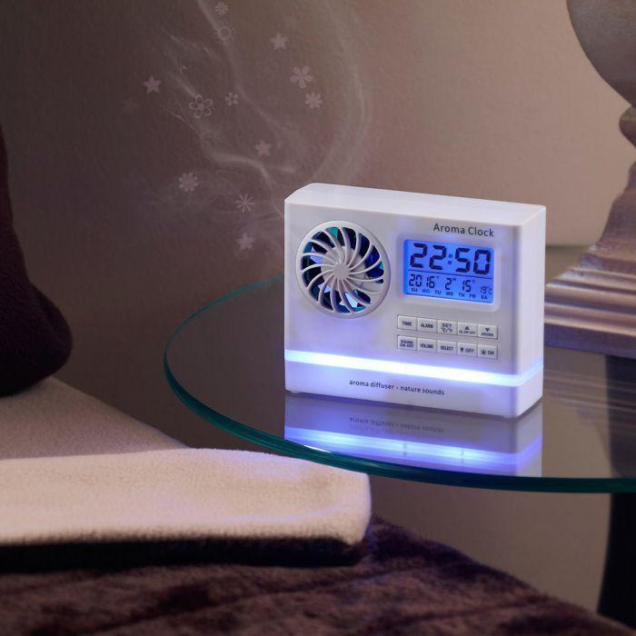 sanfter wellness wecker mit aroma diffuser und naturkl ngen. Black Bedroom Furniture Sets. Home Design Ideas