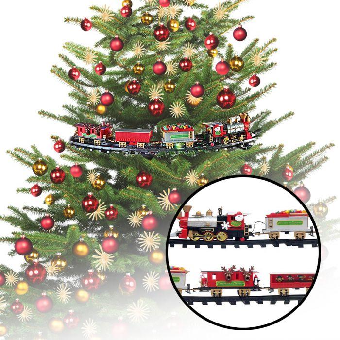 weihnachtszug f r den tannenbaum als tolle weihnachtsdeko g ausgefallene geschenke. Black Bedroom Furniture Sets. Home Design Ideas