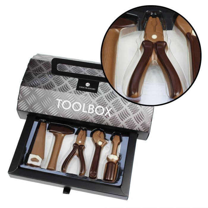 werkzeug aus schokolade toolbox mit schokowerkzeugen. Black Bedroom Furniture Sets. Home Design Ideas