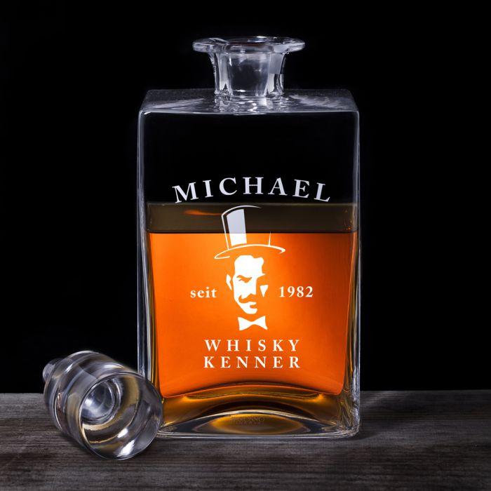 whisky karaffe deluxe mit gentleman gravur karaffe f r kenner. Black Bedroom Furniture Sets. Home Design Ideas