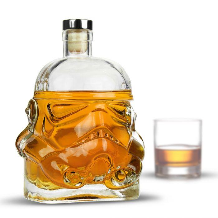Whisky Karaffe - Stormtrooper aus Glas mit Korkenverschluss