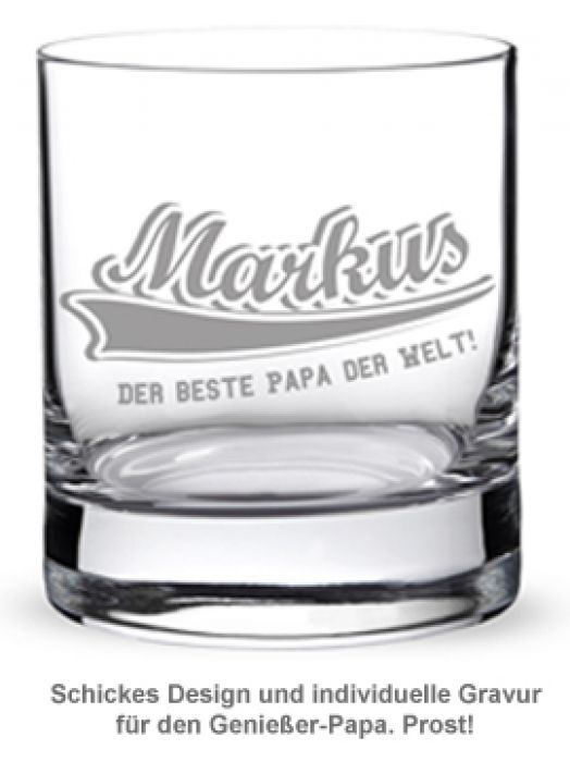 Whiskyglas College Motiv - Bester Papa