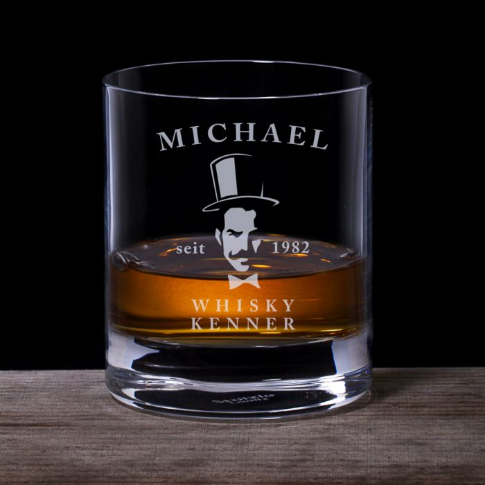 whiskyglas mit gentleman gravur f r wahre whisky experten. Black Bedroom Furniture Sets. Home Design Ideas