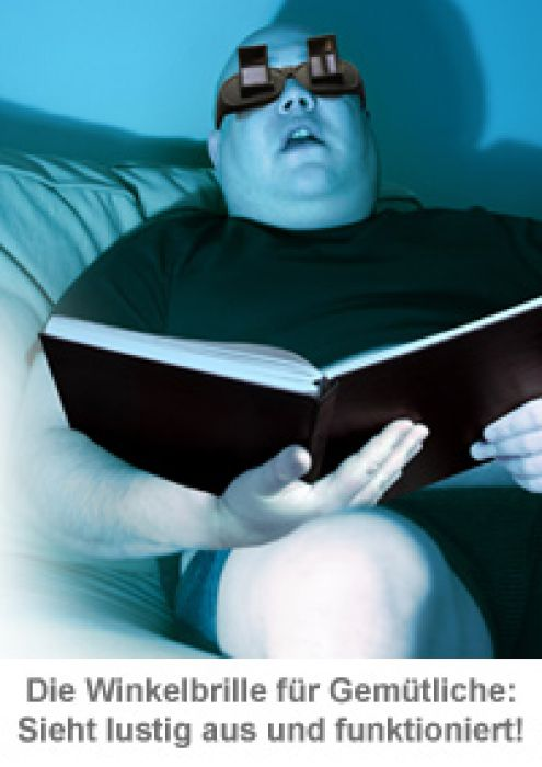 Winkelbrille zum Lesen im Liegen