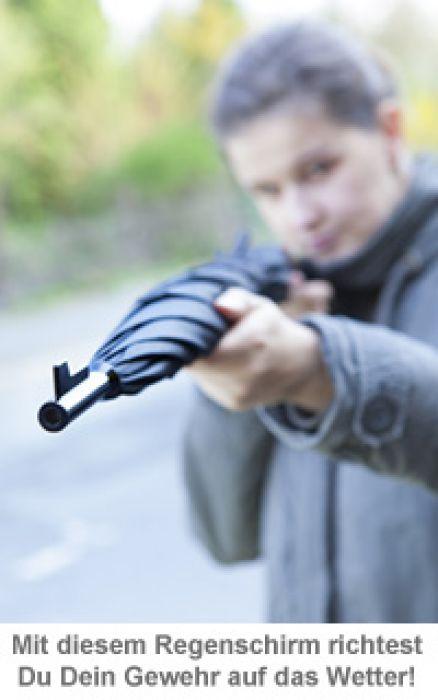 Regenschirm - Gewehr