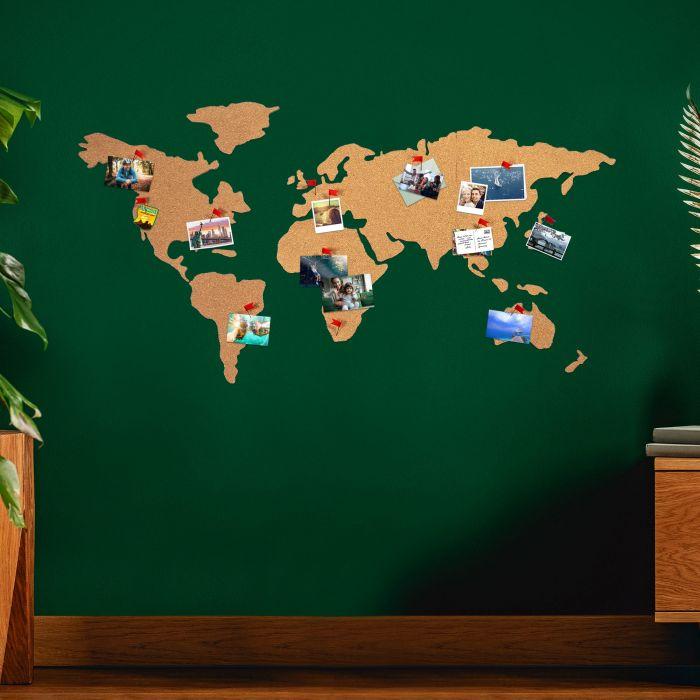 Carte du monde en liège