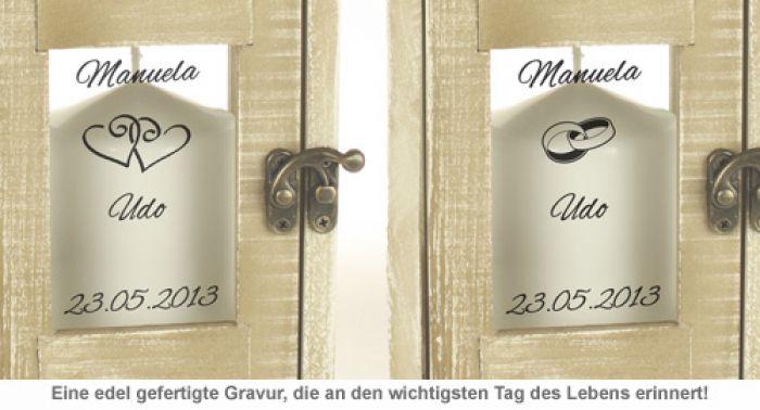 Romantische Hochzeitslaterne - personalisiert