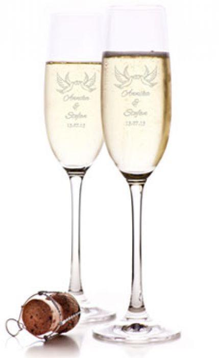 Flûtes à champagne – Gravure Colombes