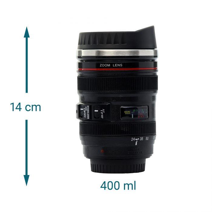 Thermo Kaffeebecher - Kamera Objektiv