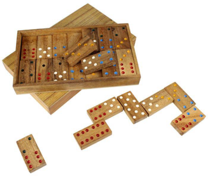 Domino in edler Holzbox