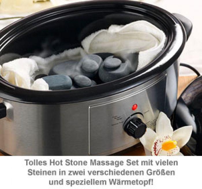 Hot Stone Set mit Wärmegerät