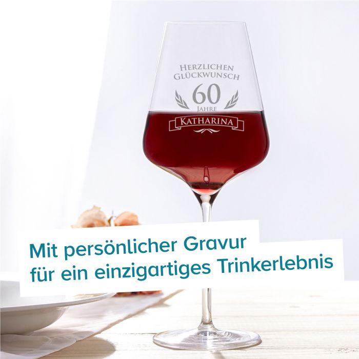 Weinglas zum 60. Geburtstag