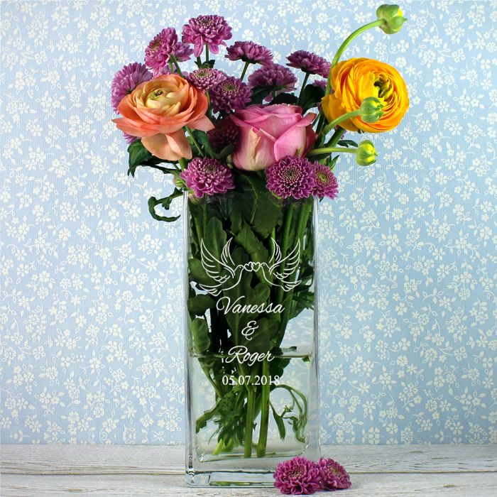Vase tourtereaux - personnalisée