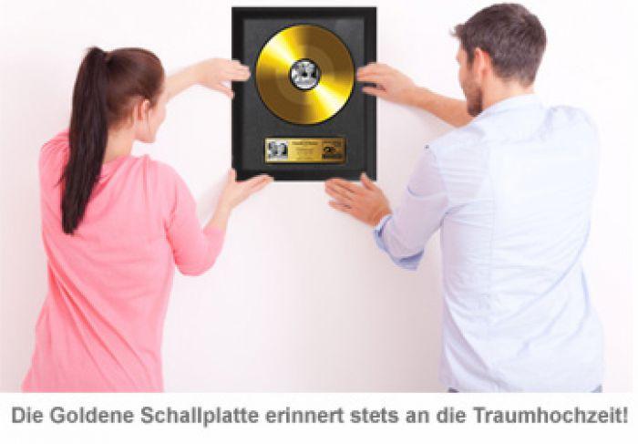 Goldene Schallplatte Hochzeitsbild