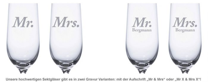 Sektgläser - Mr and Mrs