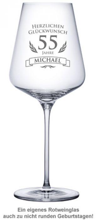 Weinglas zum Geburtstag