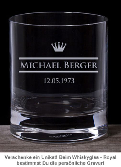 Personalisiertes Whiskyglas - Royal