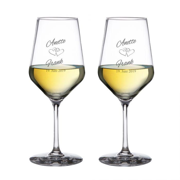 Weißweingläser zur Hochzeit