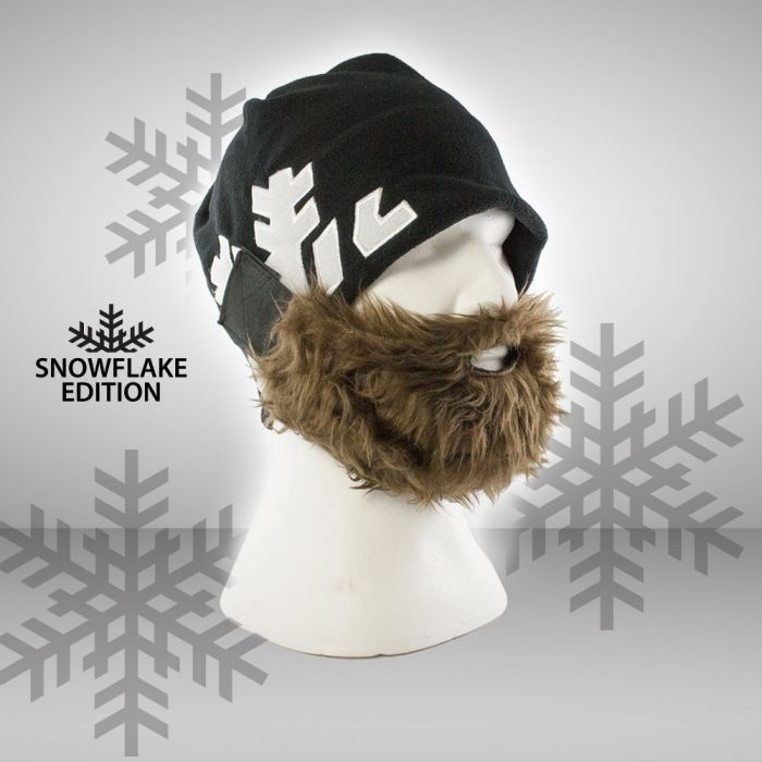 Bartmütze Snowflake - braun