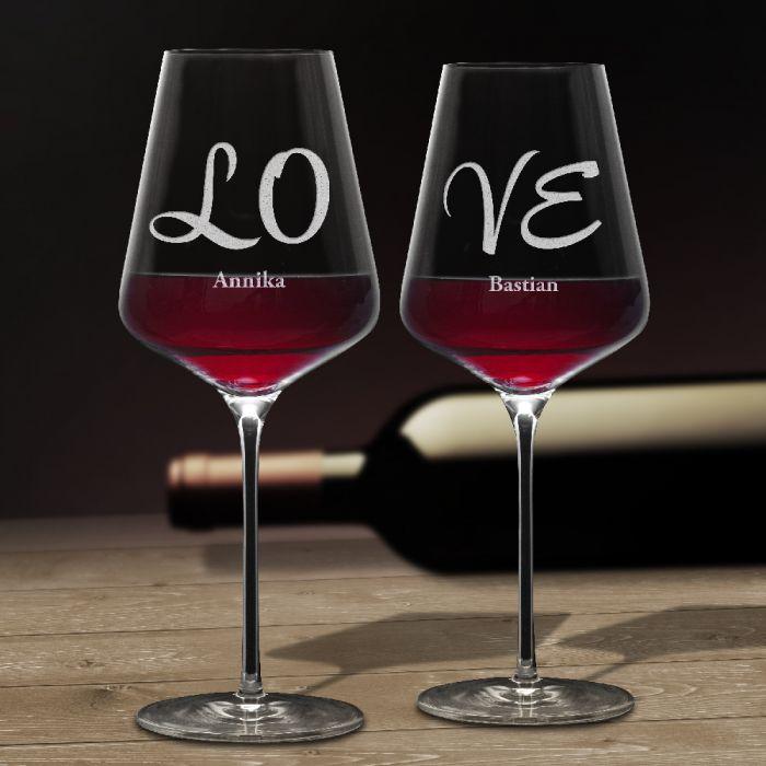Weingläser Love - 2er Set