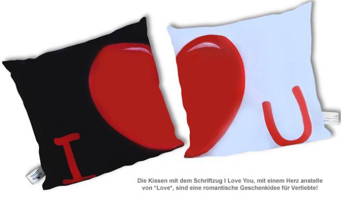 Kissenbezug 2er Set - I Love You