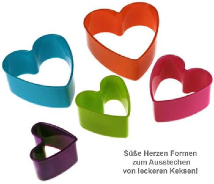 Plätzchen Herzform - 5er Set