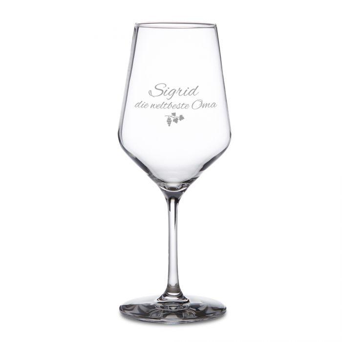 Weißweinglas mit Gravur - Beste Oma