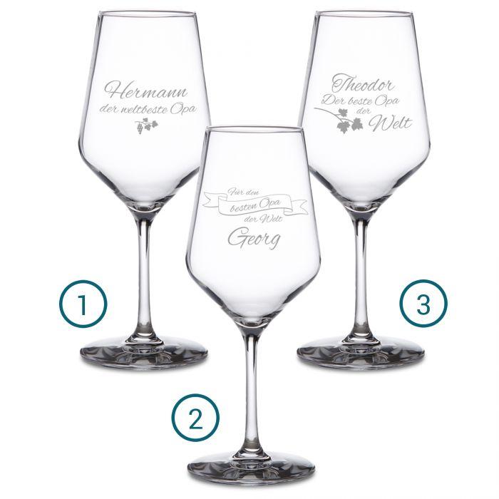 Weißweinglas mit Gravur - Bester Opa