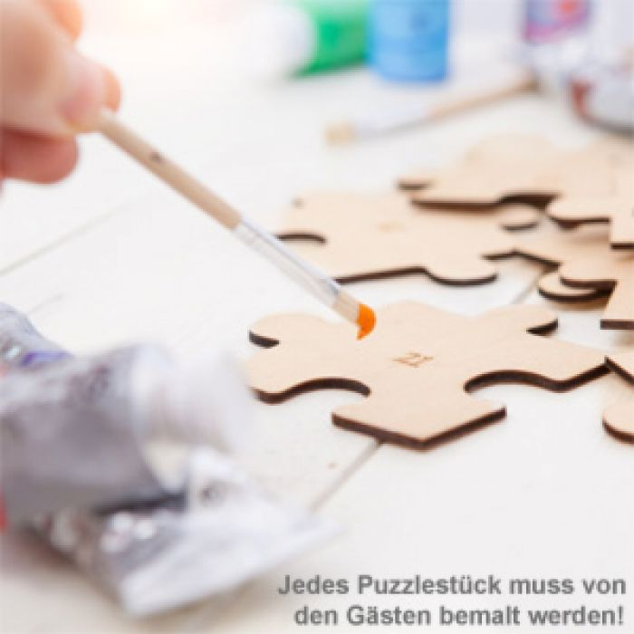 Hochzeit Puzzle zum Bemalen