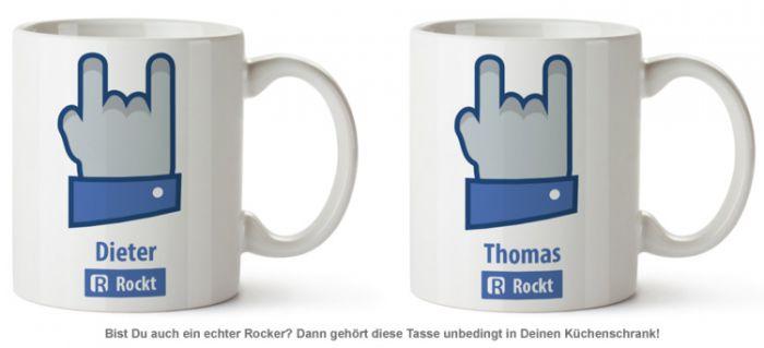 Personalisierte Tasse - Rocker