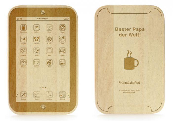 FrühstücksPad mit Gravur - Bester Papa