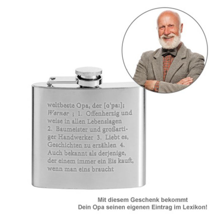 Flachmann mit Gravur - Definition Weltbester Opa